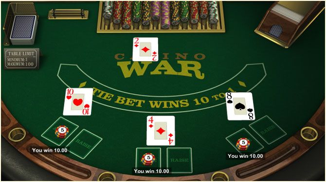 casino war game