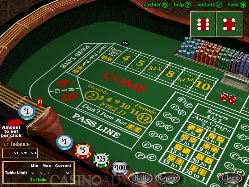 Casino Craps Tips